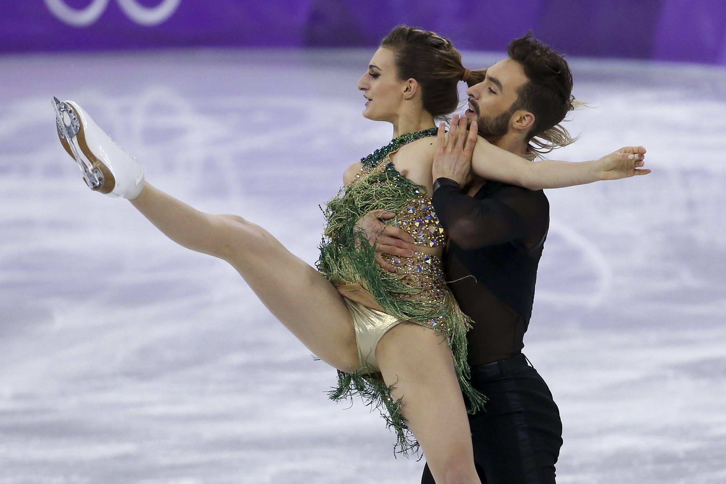 Olympia-Nippelblitzer: Fauxpas bei Frankreichs Eistanzkür!