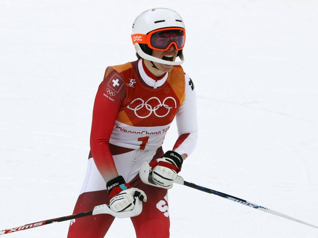 Michelle Gisin holte Kombi-Gold - Siebenhofer Siebente
