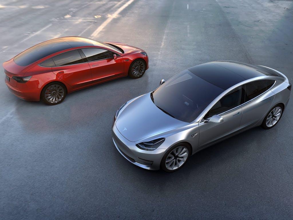 Tesla model 3 innenraum
