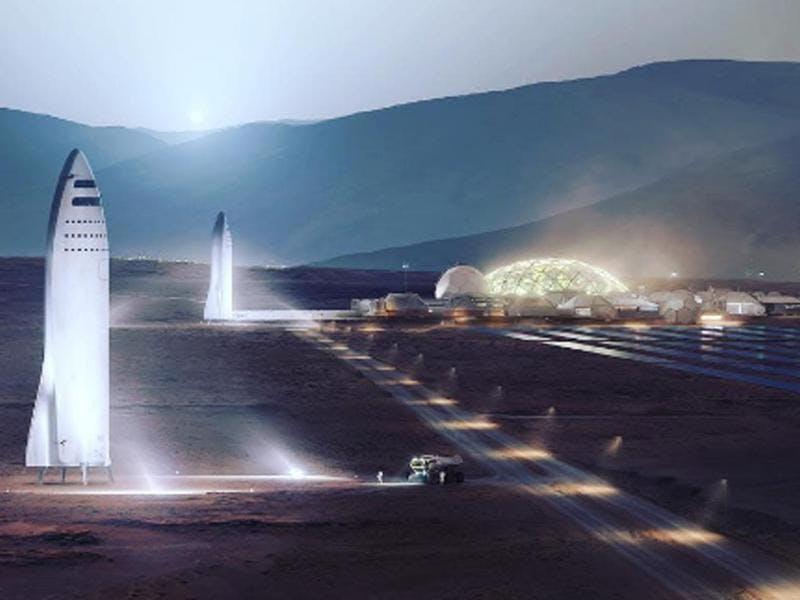SpaceX will die Big Falcon Rocket 2019 erstmals ins All schicken