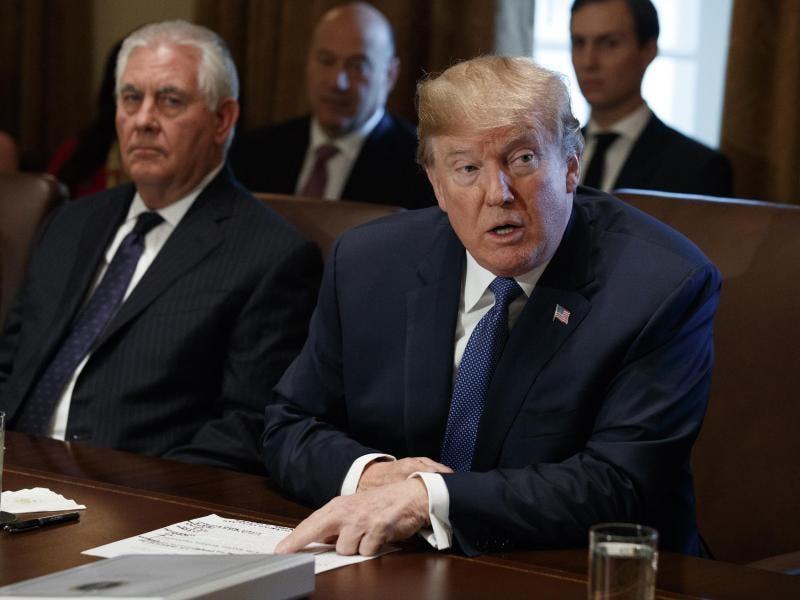 Dobald Trump feuert Außenminister Rex Tillerson