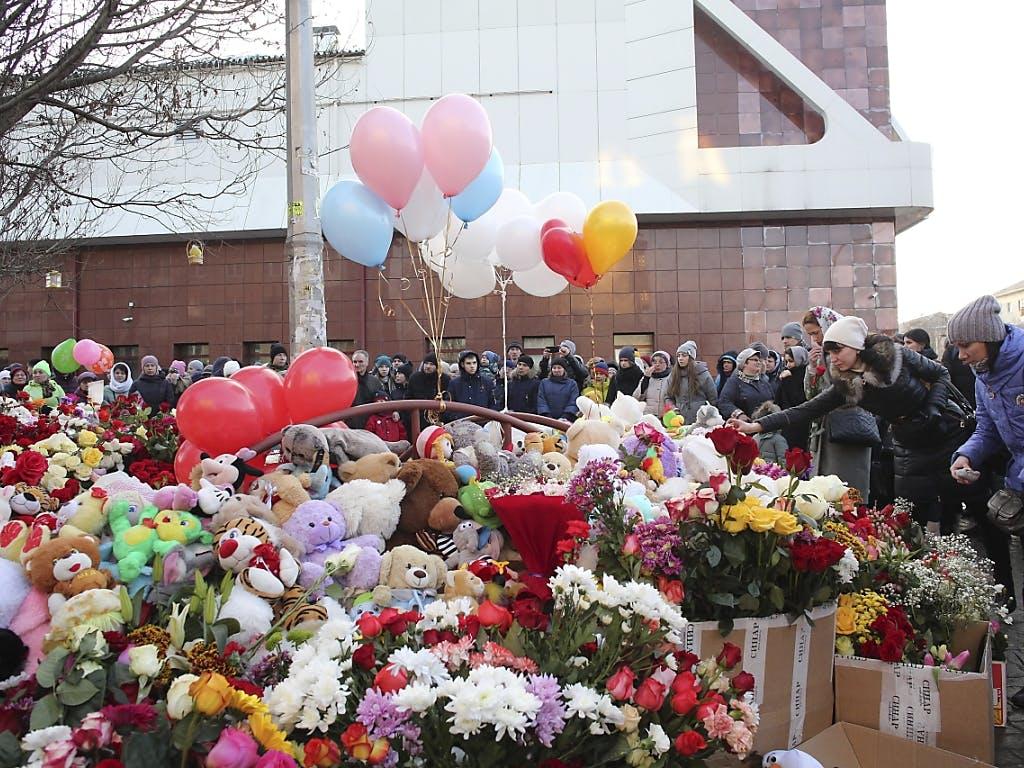 Dutzende Tote bei Brand in sibirischem Einkaufszentrum