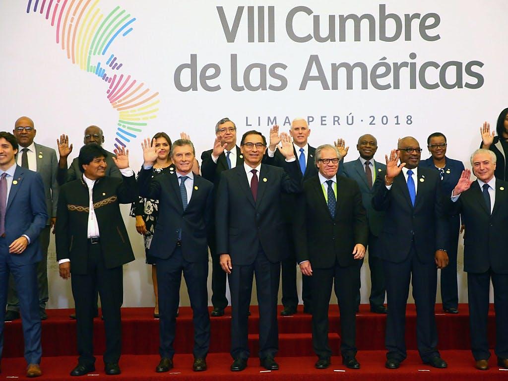 Amerika-Gipfel in Lima eröffnet