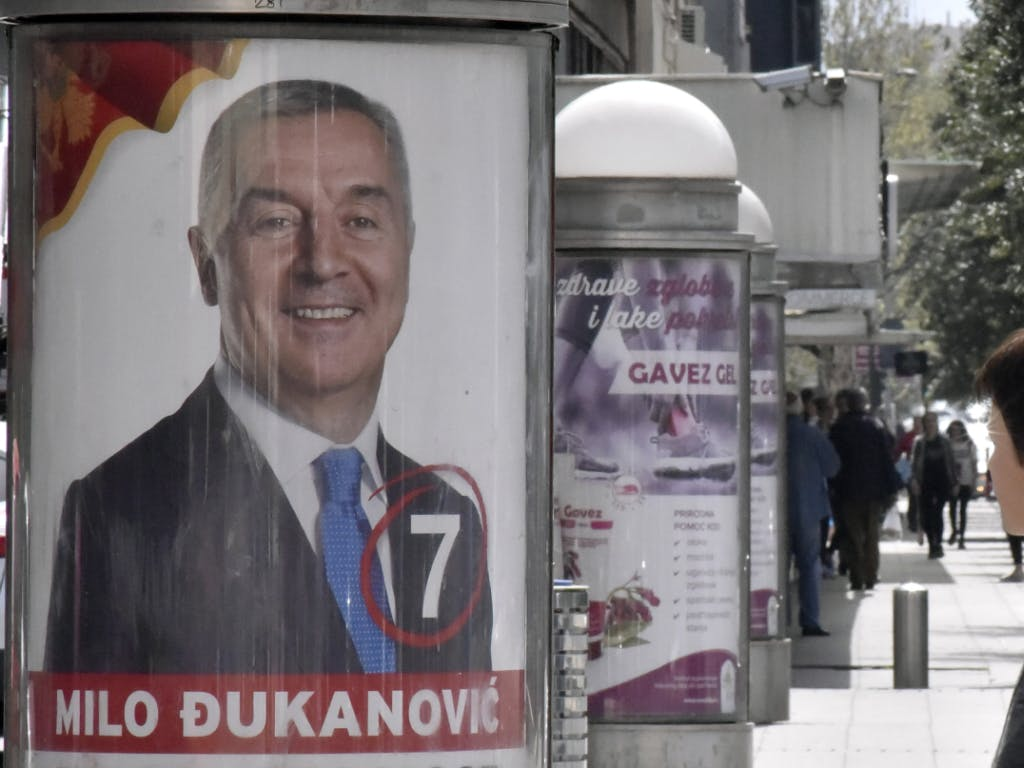 In Montenegro hat die Präsidentenwahl begonnen- Favorit ist Milo Dukanovic. Source KEYSTONE  AP  RISTO BOZOVIC
