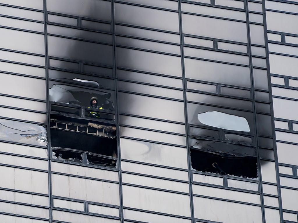 Ein Toter nach Brand im New Yorker Trump Tower