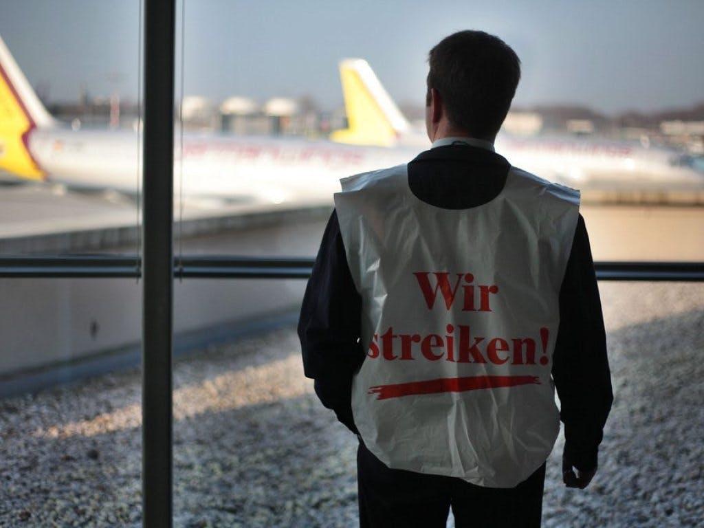 Gewerkschaft weitet Warnstreiks auf deutschen Flughäfen aus