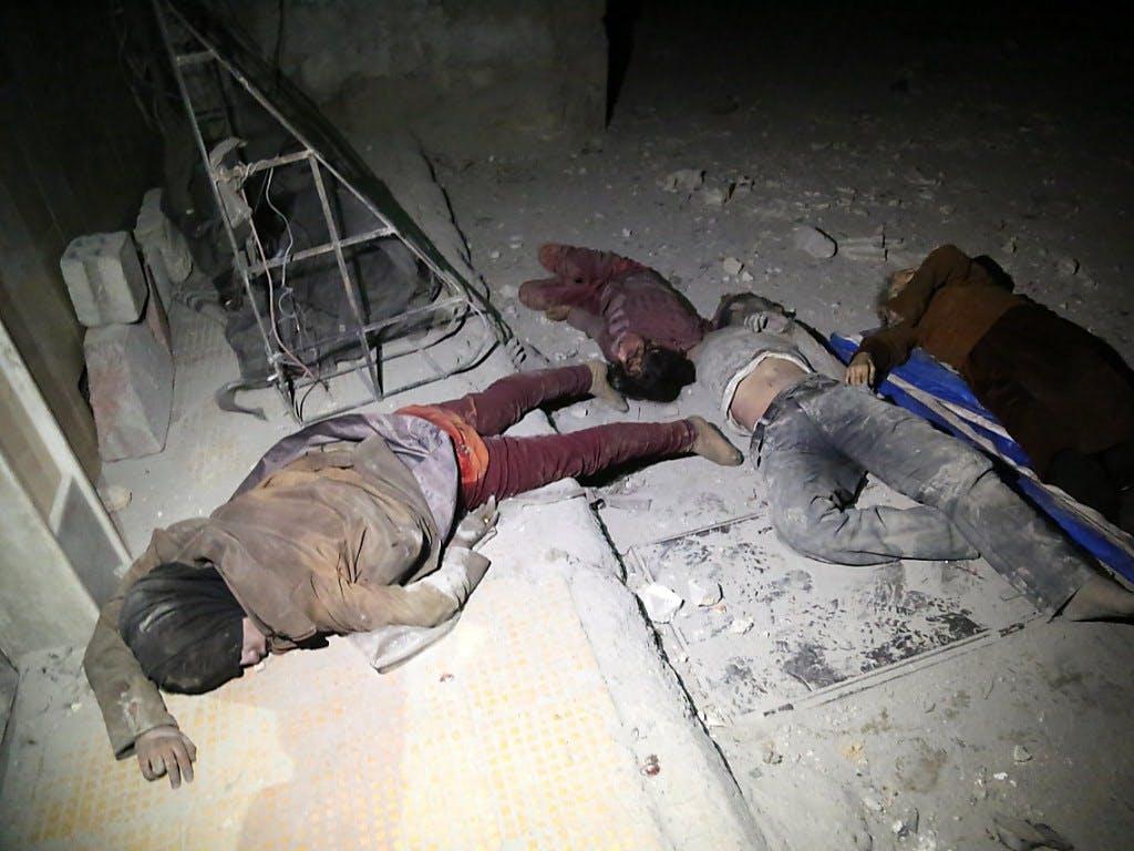 Angebliche C-Waffen-Attacke in Syrien: Macron zu Ziel möglicher militärischer Antwort