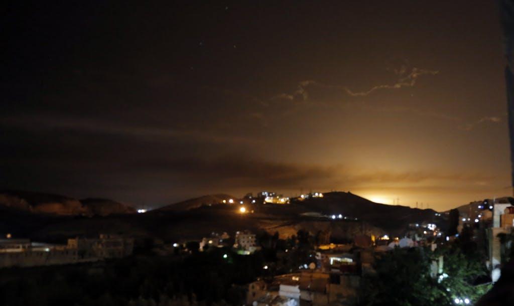 Himmel über Damaskus Bei Angriffen der israelischen Luftwaffe soll die iranische Infrastruktur in Syrien schwer getroffen worden sein. Keystone