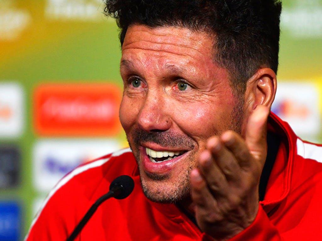 Atléticos gesperrter Trainer Diego Simeone vor dem Final der Europa League gegen Olympique MarseilleSource Keystone