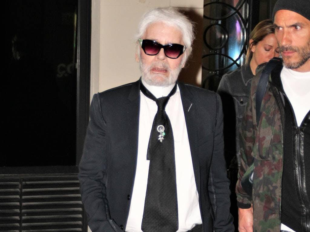 Karl Lagerfeld a grandezza naturale