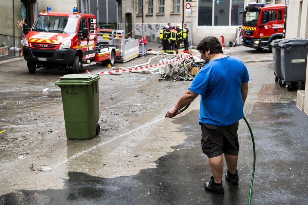 Regen wie noch nie in Lausanne