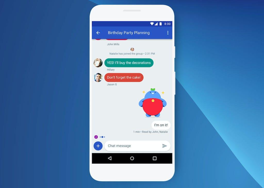 Die Standard Nachrichten App Von Android Unterstutzt RCS Mit Dem Nachfolger Der SMS Konnen Auch Gruppenchats Gemacht Und Emojis Verschickt Werden