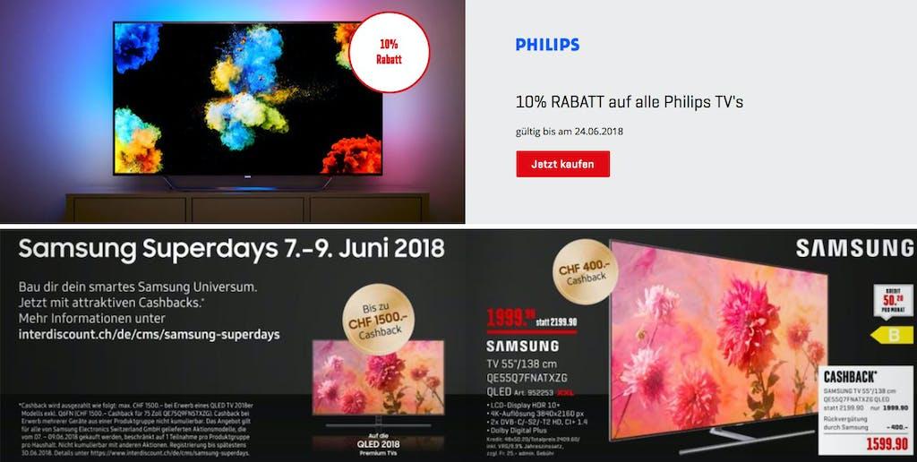 Philips Fernseher Interdiscount : Satte rabatte zur wm: so finden sie jetzt den richtigen fernseher