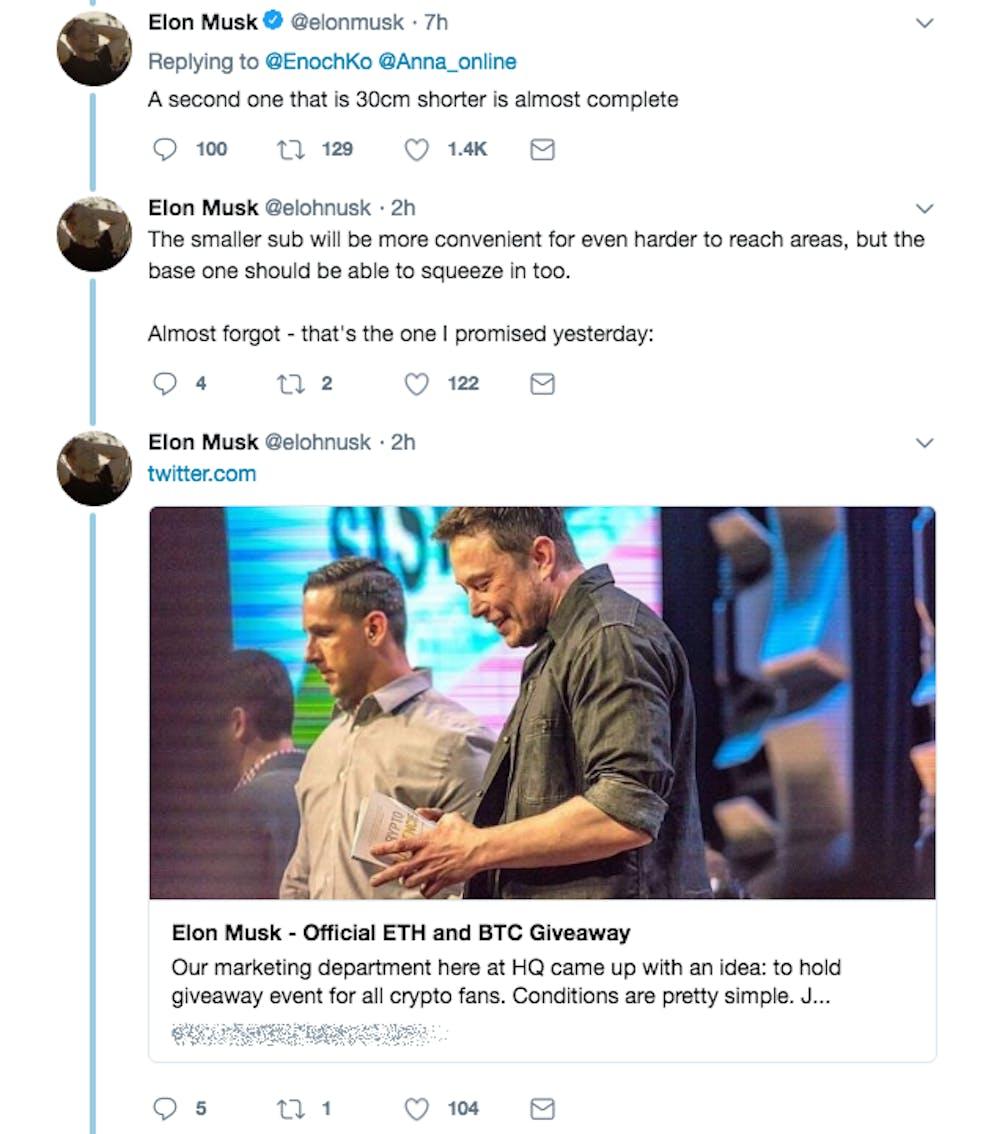 Krypto Betrüger machen Geld mit Elon Musks Twitter Kriegen