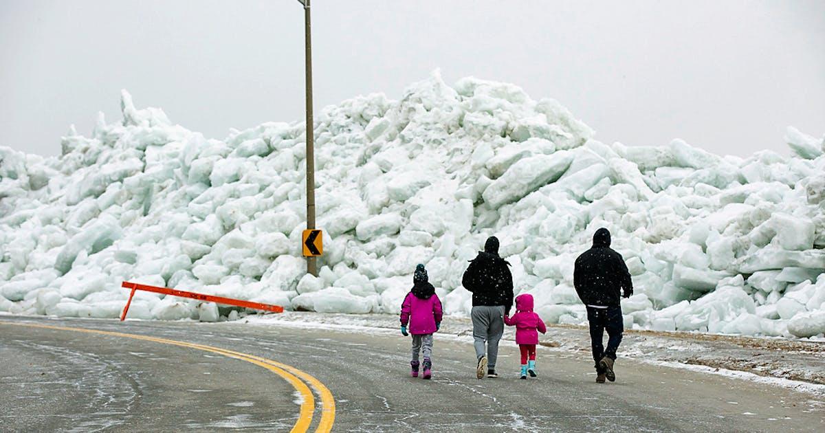 Eis-Tsunami im Eriesee