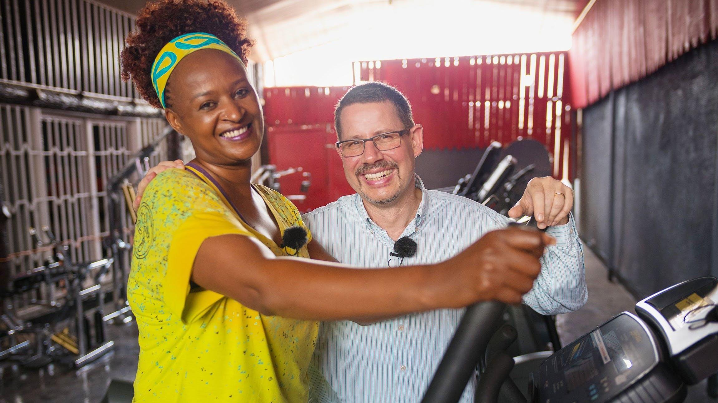 Dianne und Marco Schommer wollen in Ruanda ein Fitness-Studio eröffnen.