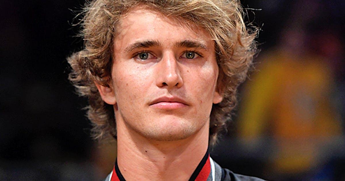 Den 24-år gammal 198 cm lång Alexander Zverev i 2021