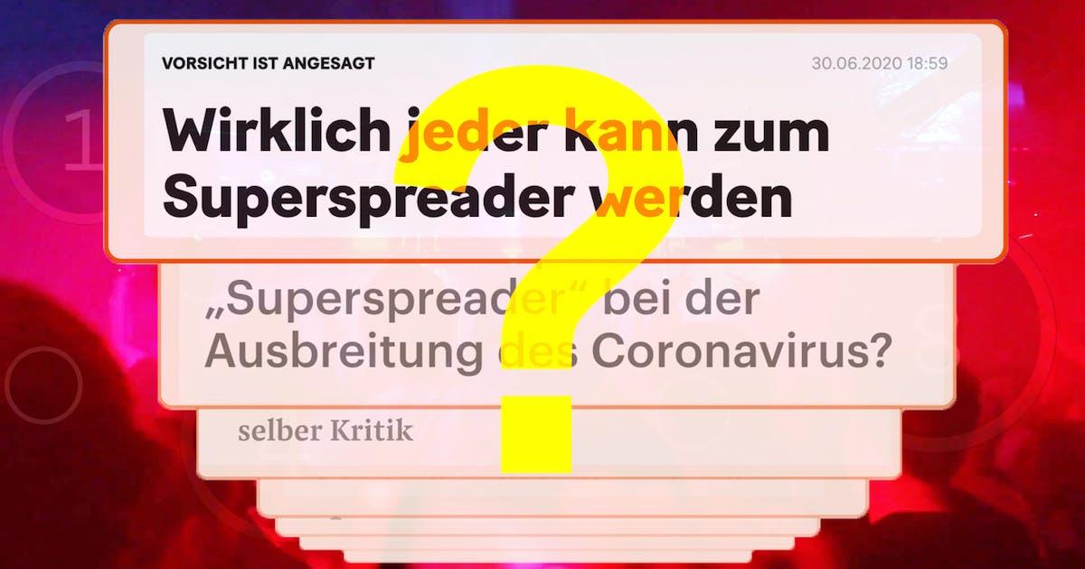 Superspreader Deutsch