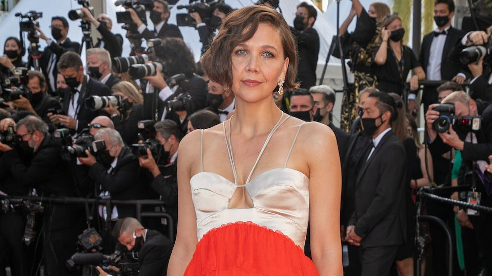 CANNES, FRANCE - JULY 17: Actress Maggie Gyllenhaal attends the final screening of