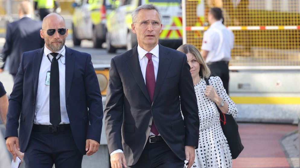 NATO leader Jens Stoltenberg, centre, arrives to attend a memorial service marking the 10-year anniversary of the terrorist attack by Anders Breivik, in the Government Quarter, Oslo, Thursday, July 22, 2021. Commemorations will be held marking the 10-year anniversary of NorwayâÄ™s worst ever peacetime slaughter. On July 22, 2011, rightwing terrorist Anders Breivik set of a bomb in the capital, Oslo, killing eight people, before heading to tiny Utoya island where he stalked and shot dead 69 mostly teen members of the Labor Party youth wing. (Geir Olsen/NTB scanpix via AP)