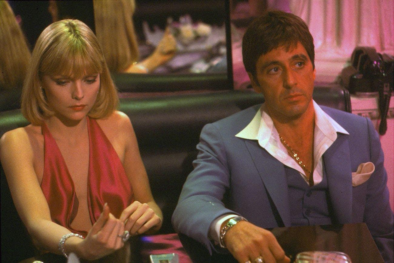 Auf dem Höhepunkt ihrer Karriere in den Achtziger- und Neunzigerjahren spielte sie an der Seite von Al Pacino (im Bild), Robert Redford, Sean Connery und George Clooney.