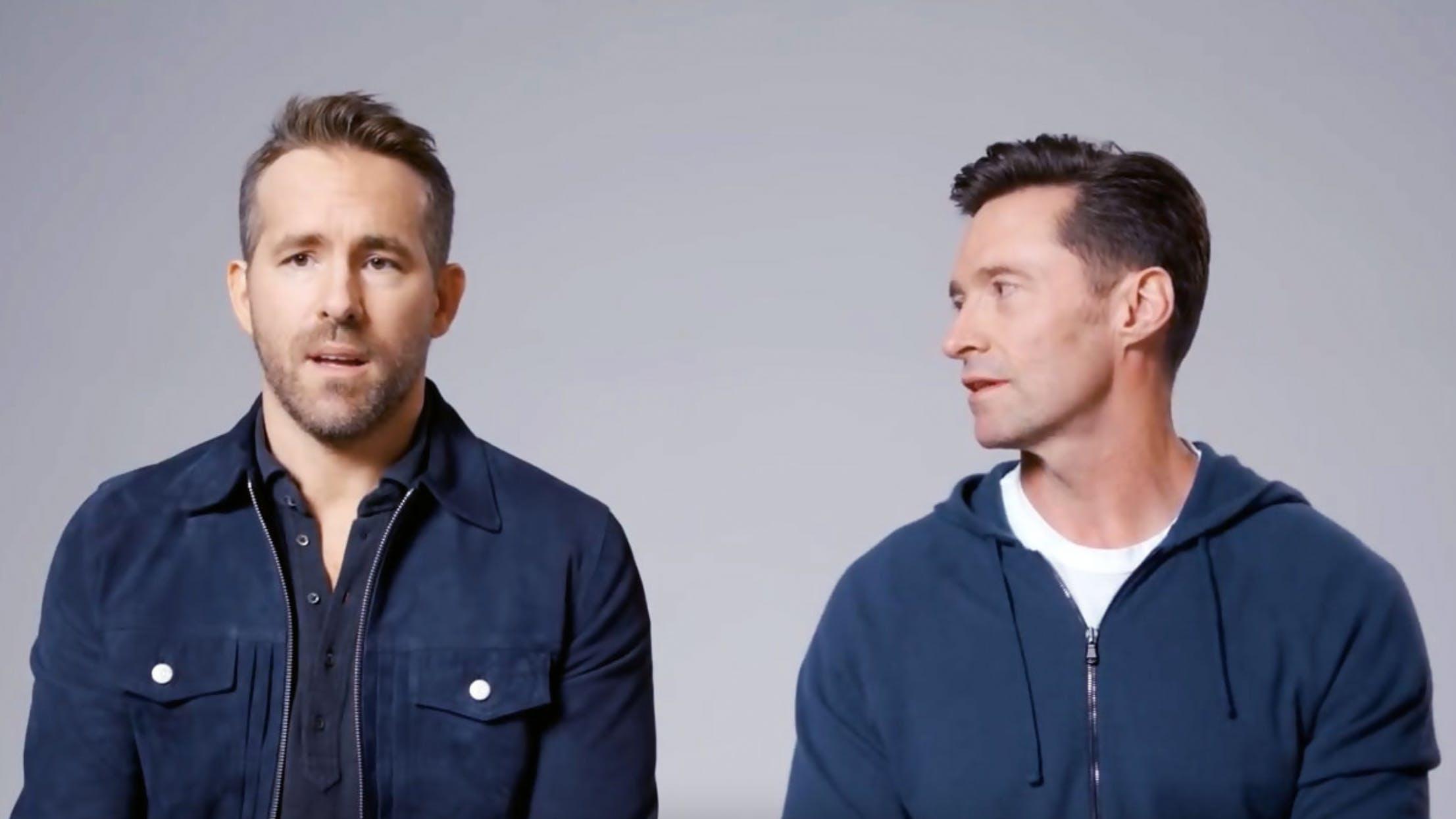 Ryan Reynolds (links) und Hugh Jackman: Der Kanadier gegen den Australier, selten war ein Streit so unterhaltsam, wie jener zwischen den beiden Schauspielern.
