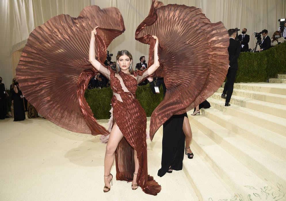 Valentina Sampaio attends The Metropolitan Museum of Art's Costume Institute benefit gala celebrating the opening of the
