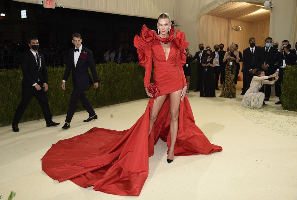 Karlie Kloss attends The Metropolitan Museum of Art's Costume Institute benefit gala celebrating the opening of the