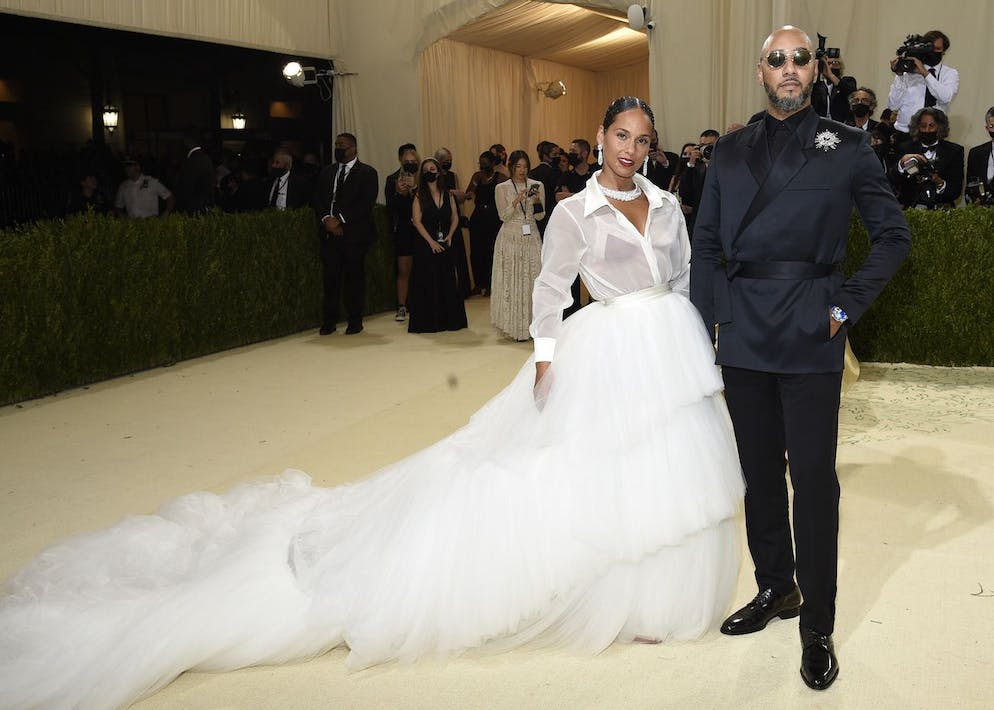 Alicia Keys, left, and Swizz Beatz attend The Metropolitan Museum of Art's Costume Institute benefit gala celebrating the opening of the