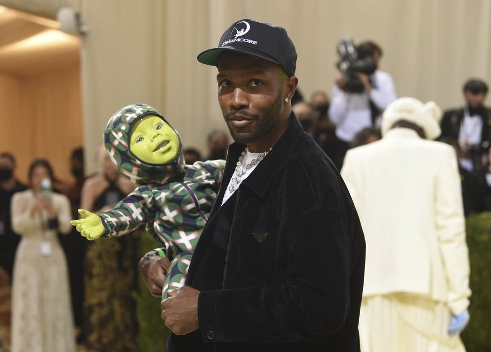 Frank Ocean attends The Metropolitan Museum of Art's Costume Institute benefit gala celebrating the opening of the