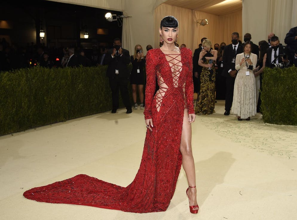 Megan Fox attends The Metropolitan Museum of Art's Costume Institute benefit gala celebrating the opening of the