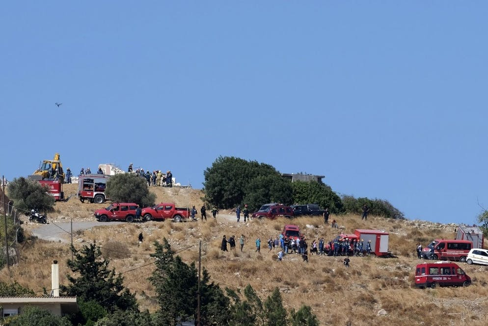 Les secours interviennent sur le site où l'église a été démolie et où un homme a perdu la vie.