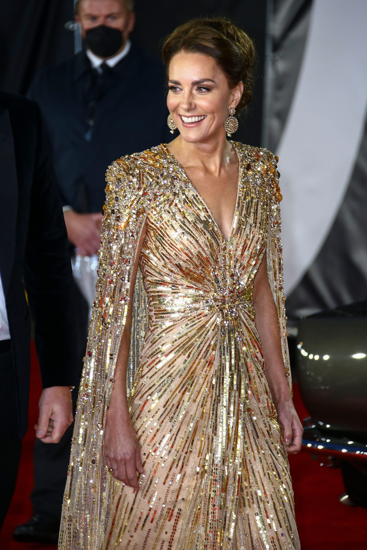 Blickfang des Abends war Golden Girl Herzogin Kate.