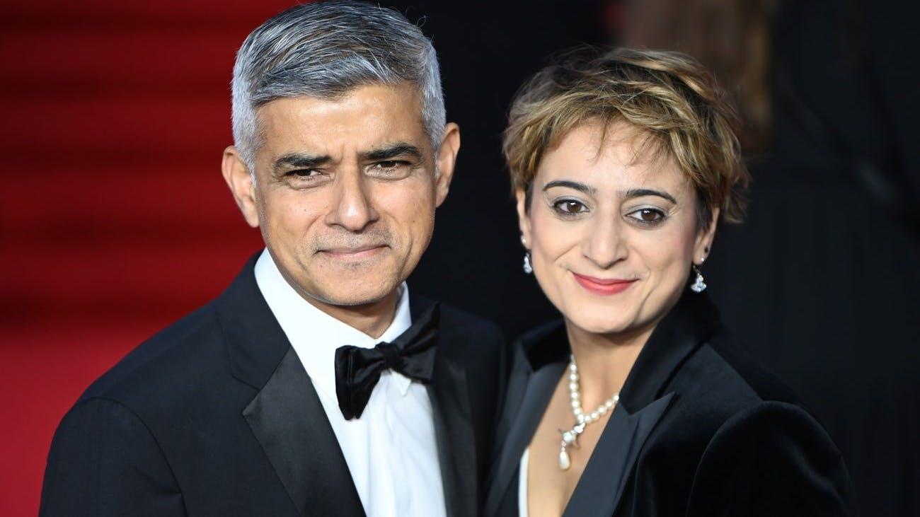 Politprominenz: Londons Bürgermeister Sadiq Khan mit seiner Frau Saadiya.