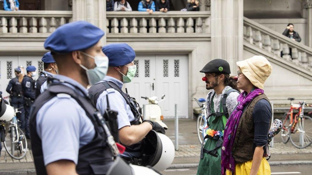 Aktivisten der Klimaorganisation