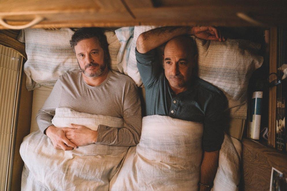 Privat dick befreundet, auf der Leinwand in «Supernova» ein Paar: Colin Firth als Sam (l.) und Stanley Tucci als Tusker.