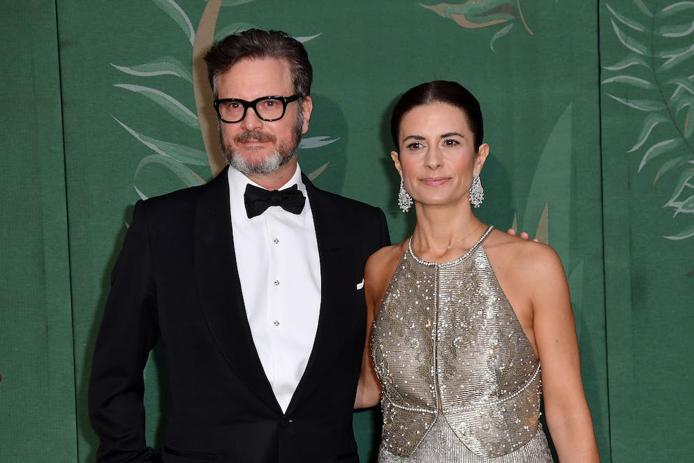 MILAN, ITALY - SEPTEMBER 22: Colin Firth and Livia Giuggioli Firth attend the Green Carpet Fashion Awards during the Milan Fashion Week Spring/Summer 2020 on September 22, 2019 in Milan, Italy. (Photo by Jacopo Raule/Getty Images)