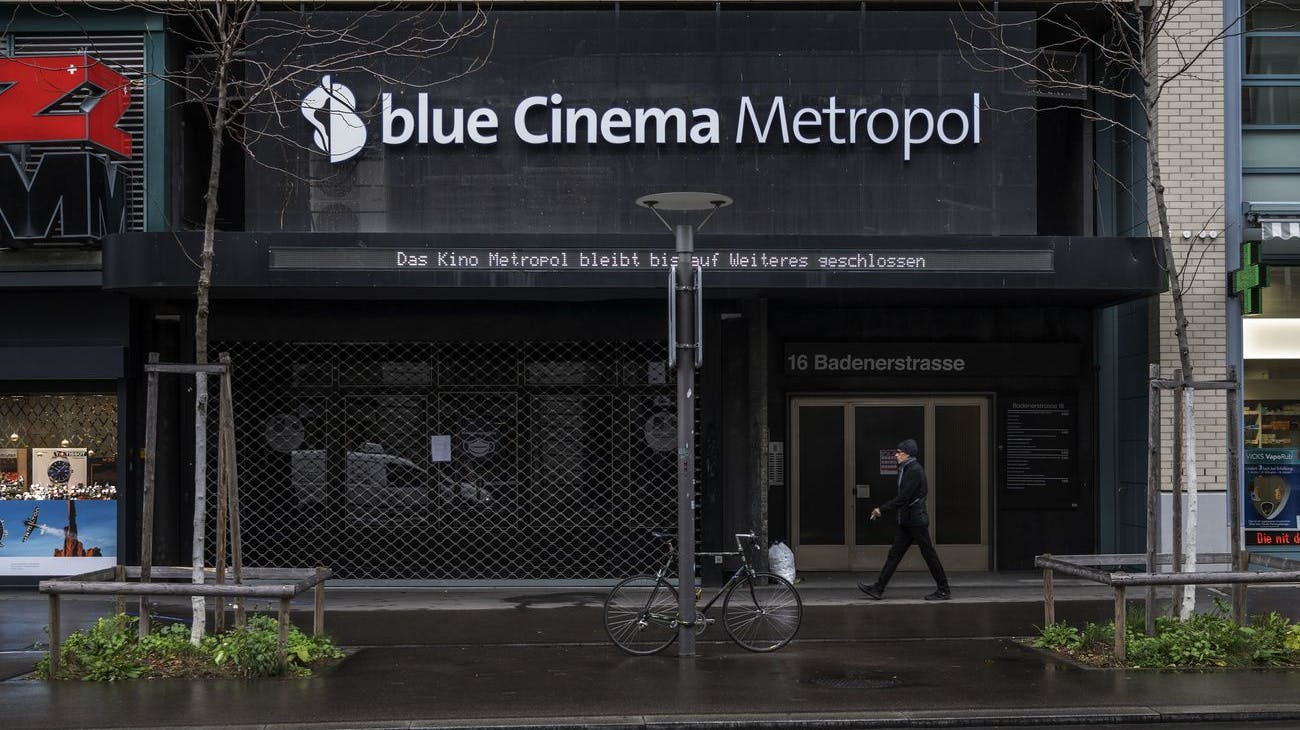 Das blue Cinema Metropol am Zürcher Stauffacher darf seine Türen wieder öffnen.