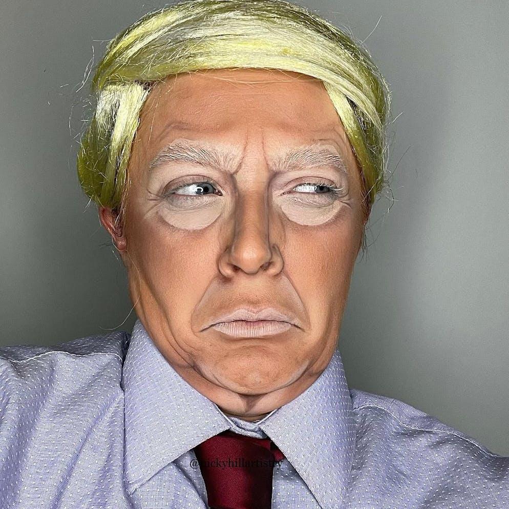 La version grimage de Donald Trump: une idée pour le prochain carnaval?