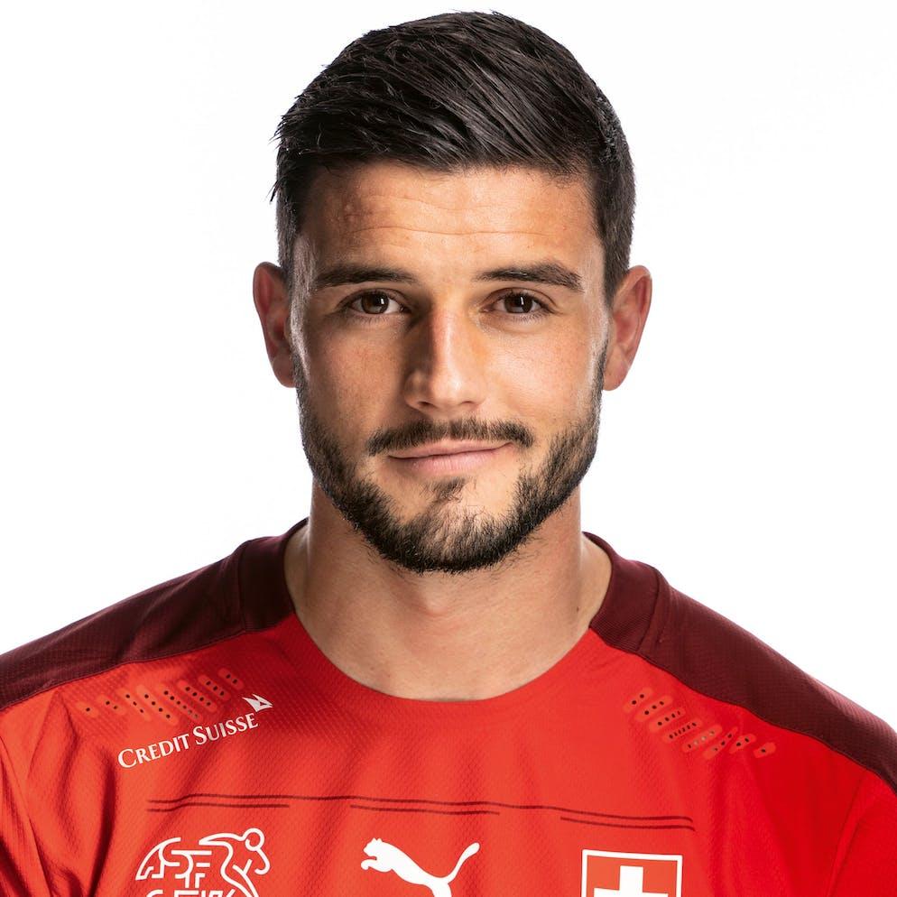 Portrait von Loris Benito, der Schweizer Fussballnationalmannschaft, aufgenommen am 22. Maerz 2021 in Abtwil (SG). (KEYSTONE/Gaetan Bally)