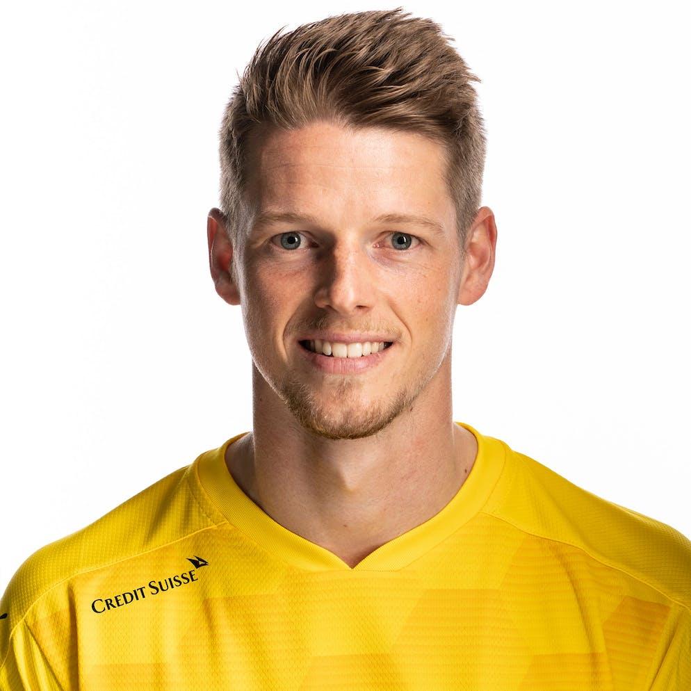 Portrait von Jonas Omlin, der Schweizer Fussballnationalmannschaft, aufgenommen am 22. Maerz 2021 in Abtwil (SG). (KEYSTONE/Gaetan Bally)