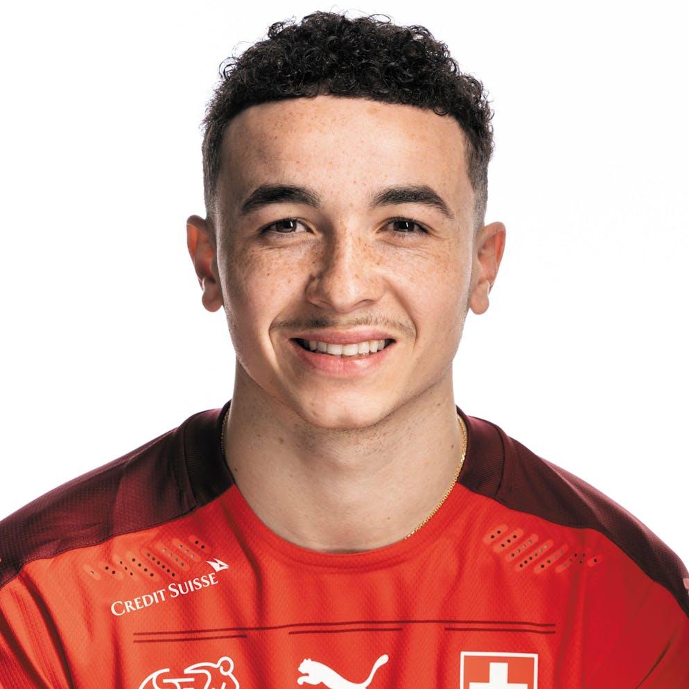 Portrait von Ruben Vargas, der Schweizer Fussballnationalmannschaft, aufgenommen am 22. Maerz 2021 in Abtwil (SG). (KEYSTONE/Gaetan Bally)