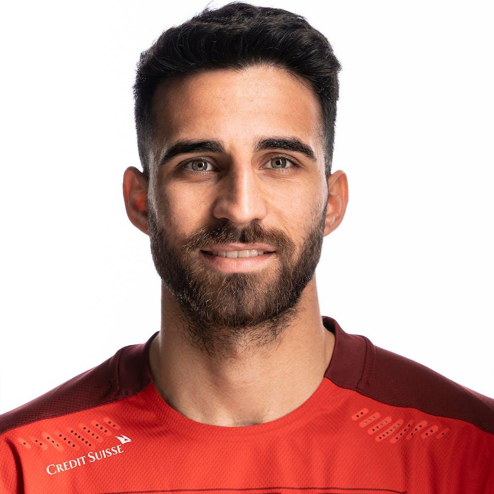 Portrait von Ebay Coemert, der Schweizer Fussballnationalmannschaft, aufgenommen am 22. Maerz 2021 in Abtwil (SG). (KEYSTONE/Gaetan Bally)