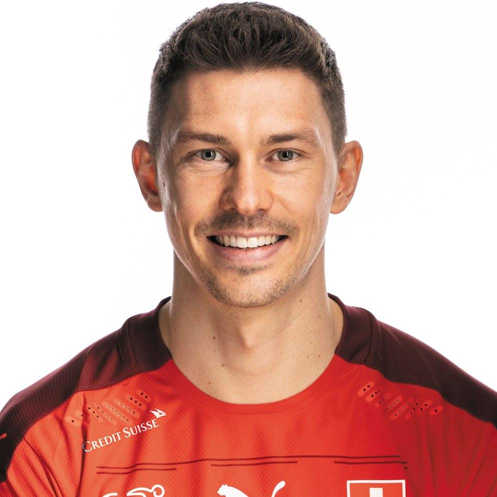 Portrait von Christian Fassnacht, der Schweizer Fussballnationalmannschaft, aufgenommen am 22. Maerz 2021 in Abtwil (SG). (KEYSTONE/Gaetan Bally)
