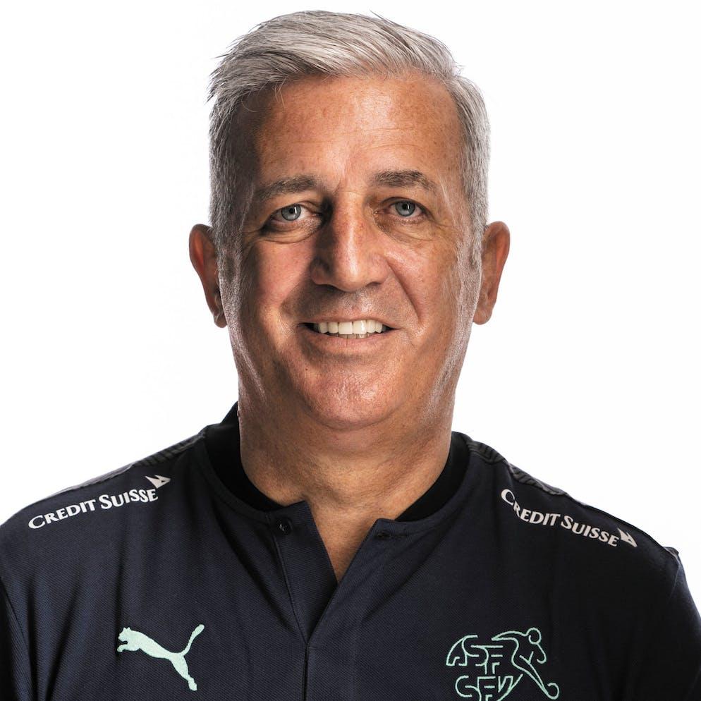 Portrait von Vladimir Petkovic, der Schweizer Fussballnationalmannschaft, aufgenommen am 22. Maerz 2021 in Abtwil (SG). (KEYSTONE/Gaetan Bally)