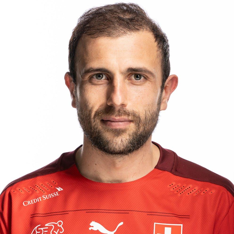 Portrait von Admir Mehmedi, der Schweizer Fussballnationalmannschaft, aufgenommen am 22. Maerz 2021 in Abtwil (SG). (KEYSTONE/Gaetan Bally)