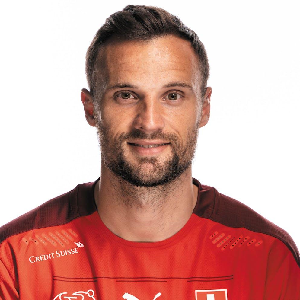 Portrait von Paris Seferovic, der Schweizer Fussballnationalmannschaft, aufgenommen am 22. Maerz 2021 in Abtwil (SG). (KEYSTONE/Gaetan Bally)