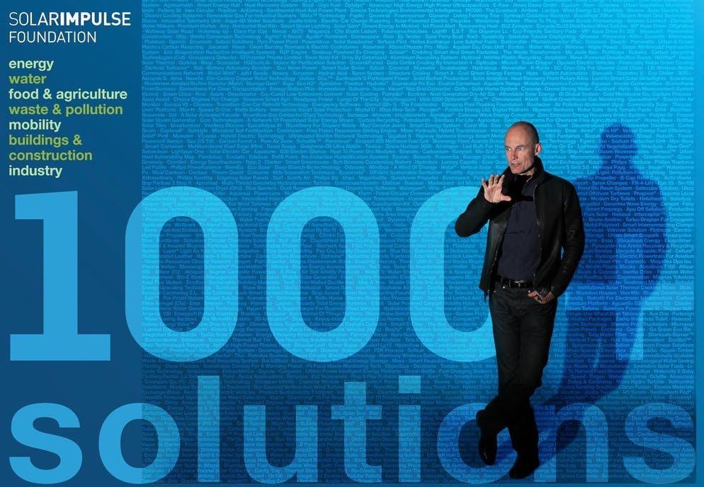 La Fondazione Solar Impulse, creata nel 2003, si concentra ora su oltre 1.000 soluzioni su come proteggere l'ambiente in modo redditizio.