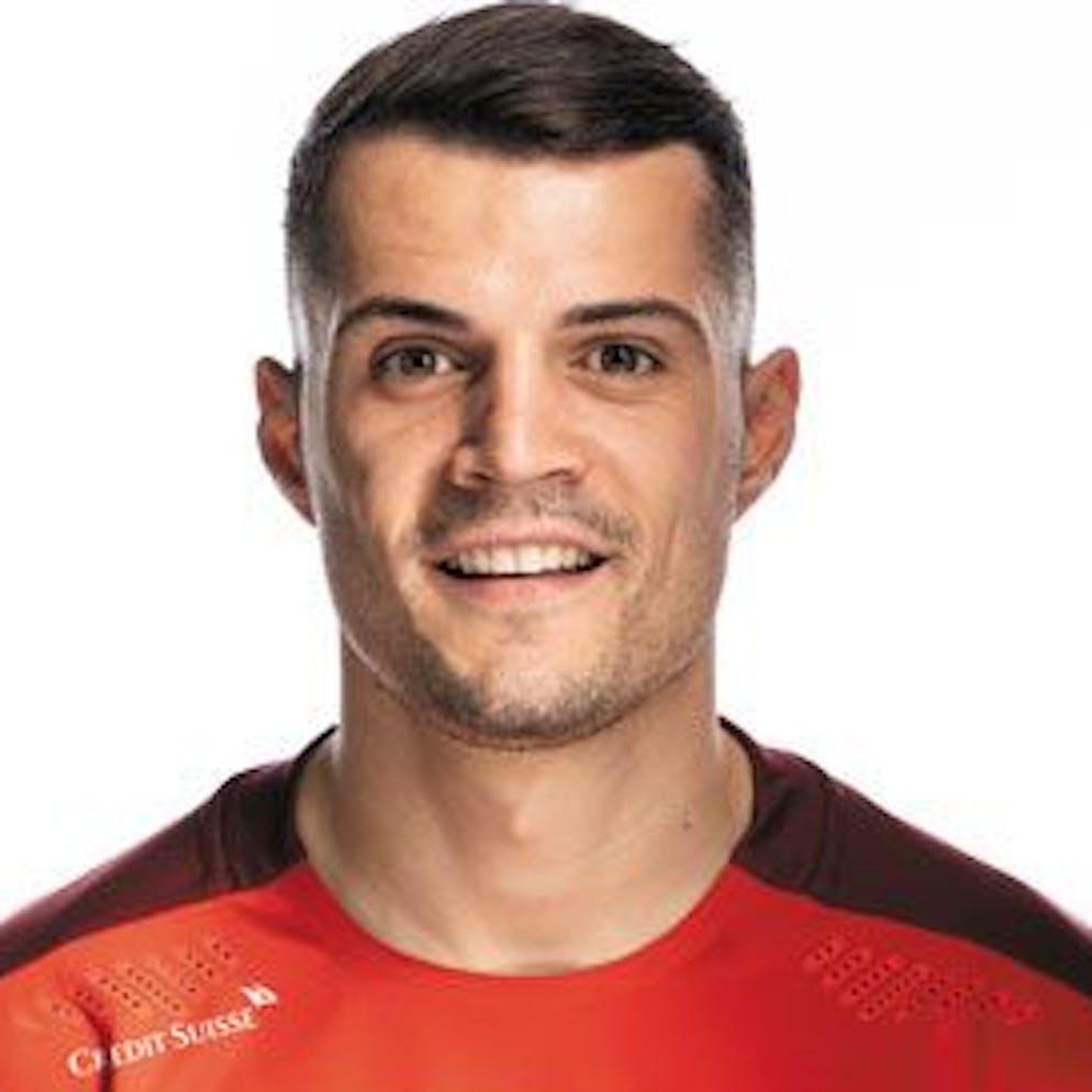 Portrait von Granit Xhaka, der Schweizer Fussballnationalmannschaft, aufgenommen am 22. Maerz 2021 in Abtwil (SG). (KEYSTONE/Gaetan Bally)
