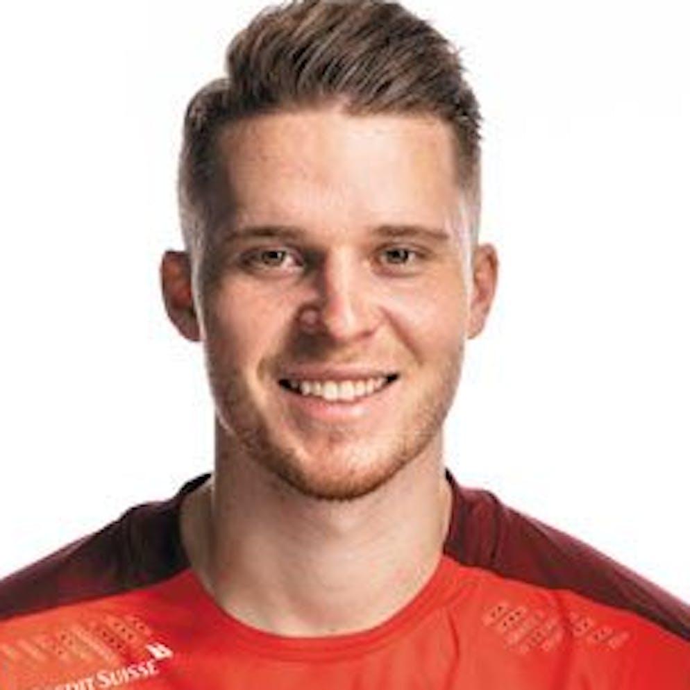 Portrait von Nico Elvedi, der Schweizer Fussballnationalmannschaft, aufgenommen am 22. Maerz 2021 in Abtwil (SG). (KEYSTONE/Gaetan Bally)